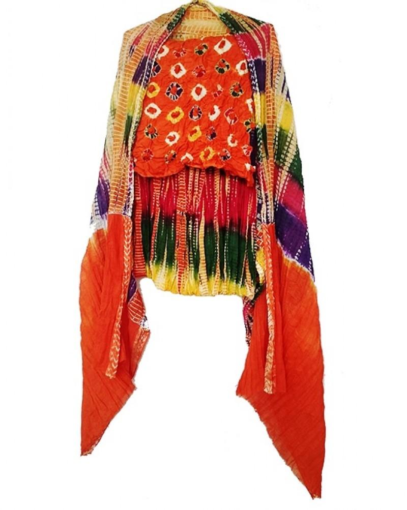 Orange Bhandhej Suit