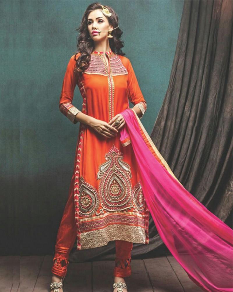Orange Designer Suit