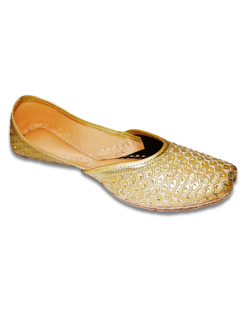 Golden Embroidered Casual Jutti