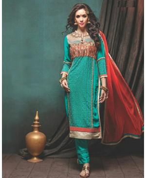 Turquoise Designer Suit