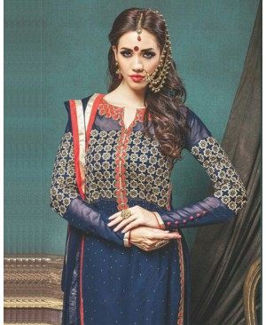 Blue Designer Georgette Suit
