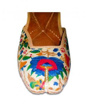 Multicolor Flowered Printing Casual Jutti