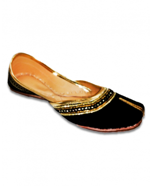 Black Golden Casual Jutti
