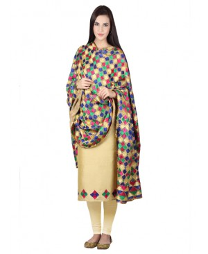 Sink Color phulkari suit