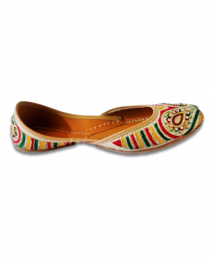 Multicolored Handwork Casual Punjabi Jutti