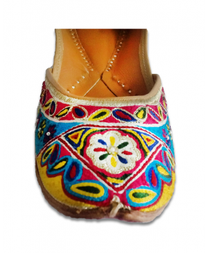 Multicolor Handworked Casual Punjabi Jutti