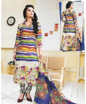 Multi-Color Punjabi Cotton Suit