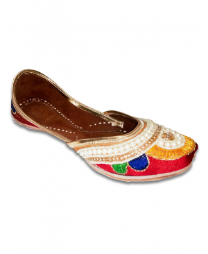 Multicolor Casual Punjabi Jutti with heavy Handwork