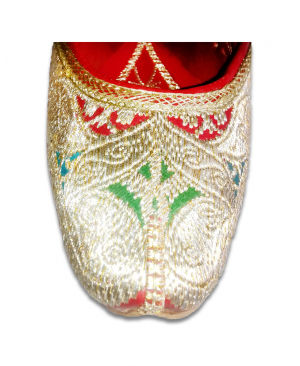Multicolor Golden Embroidery Punjabi Jutti