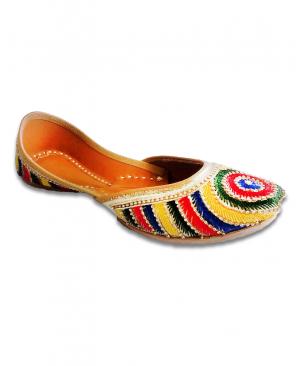 Multicolored Thread Handwork Casual Punjabi Jutti