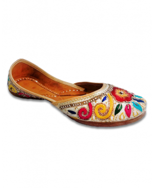 Multicolored Heavy Handwork Casual Punjabi Jutti