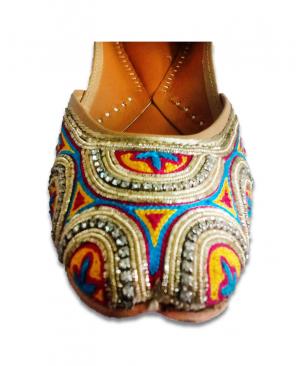 Multicolored Handwork Casual Punjabi Jutti