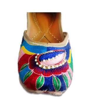 Multicolor Handworked Casual Punjabi Jutti