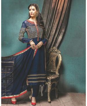 Blue Designer Georgette Suit