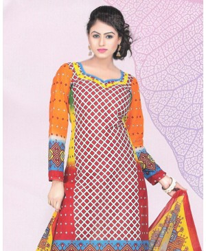 Multicolor Printed Cotton Suit